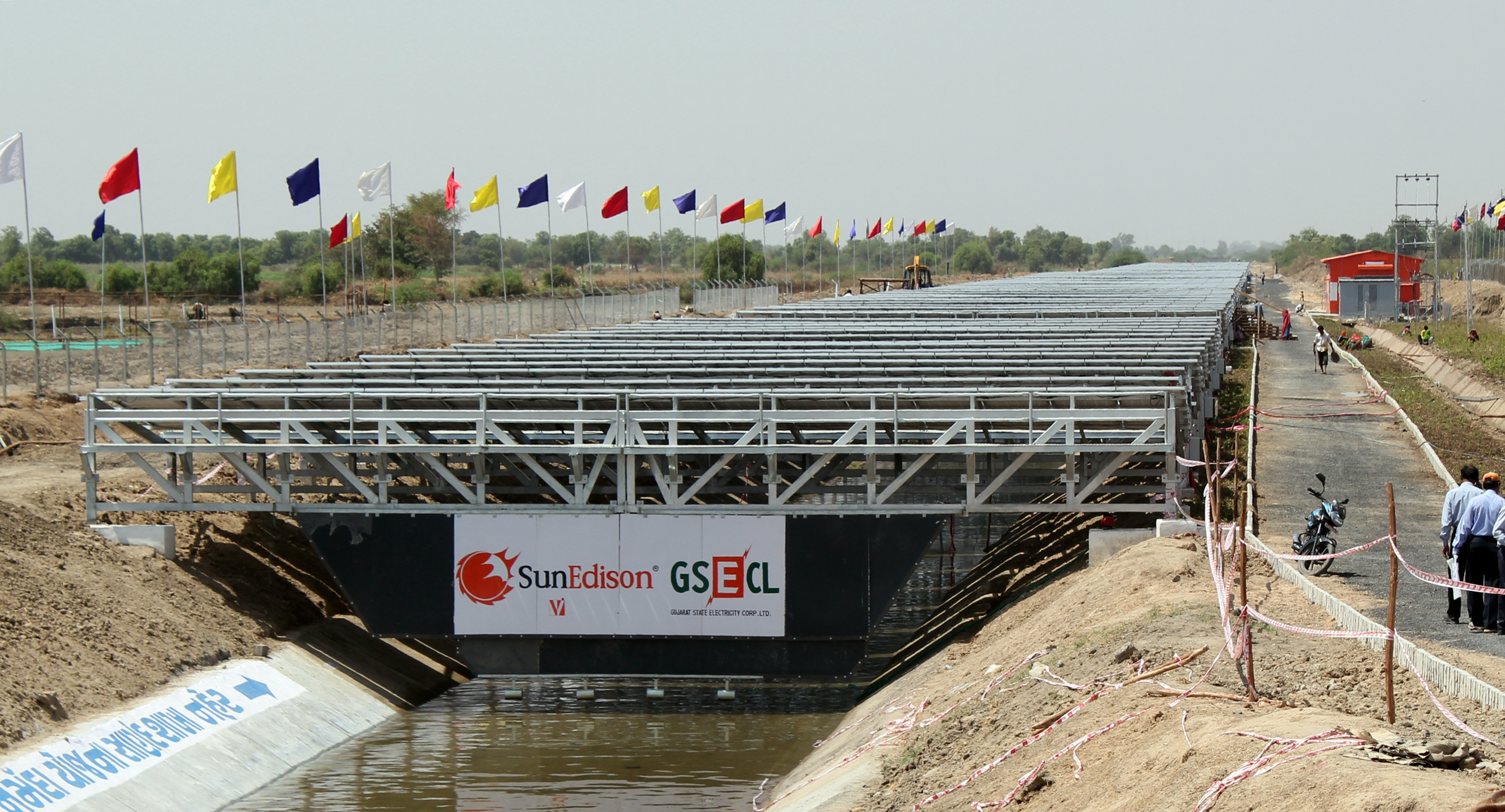 SunEdison's solar canal project  in India