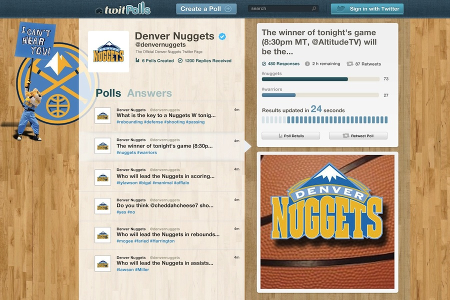 twitPolls nuggets