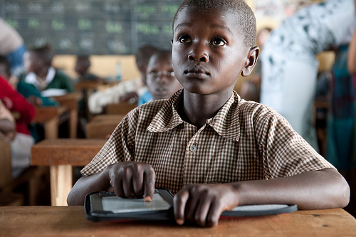 A student at the Ntimigom School in Kilgoris, Kenya. http://www.flickr.com/photos/48114529@N06/6776770558/in/set-72157629062449936/