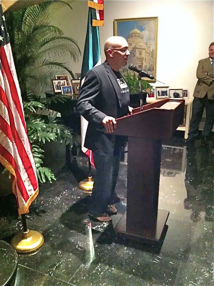 Dave McClure speaking at the US Embassy in Mexico City. Photo by George Kellerman