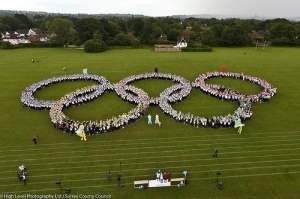 Olympic Rings Geaorge Abbot School