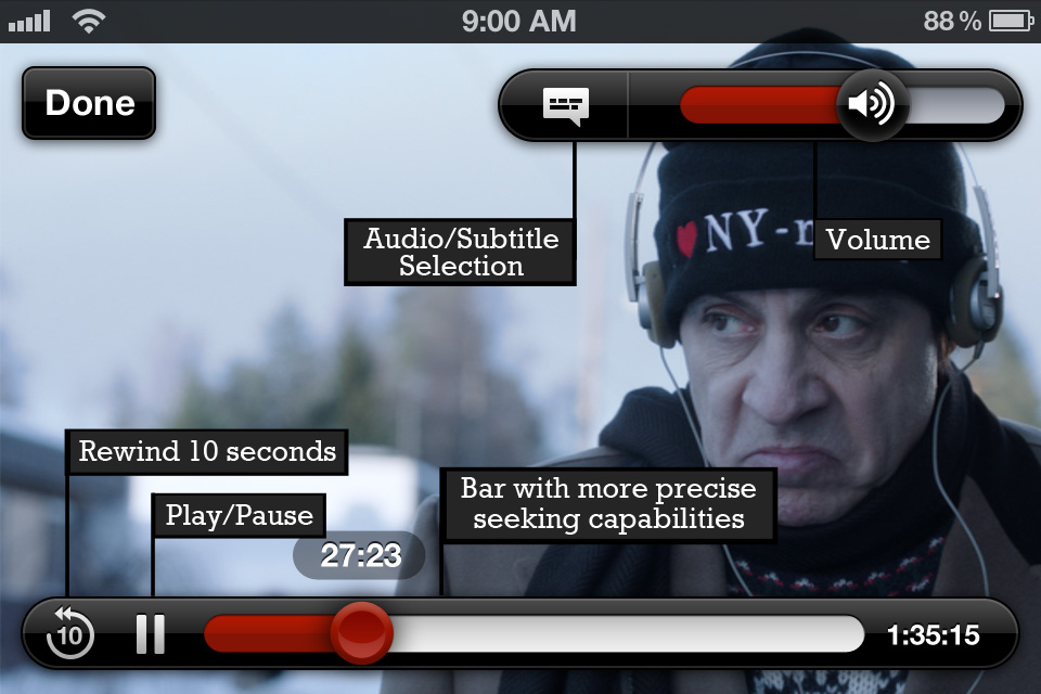 Netflix iOS app