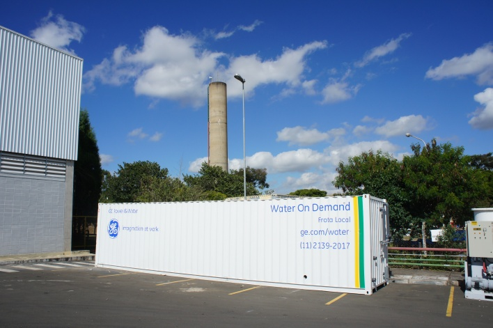 GE's mobile reverse osmosis water cleaning unit