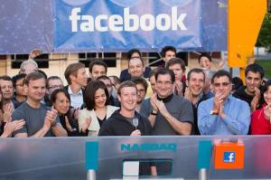 Mark Zuckerberg ringing opening bell