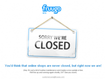 fruugo closed