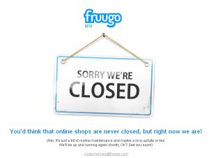 fruugo closed