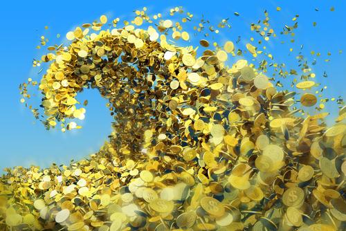 gold tidal wave