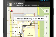 An example of indoor maps, from Google.