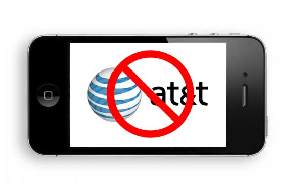 iPhone with AT&T logo crossed out