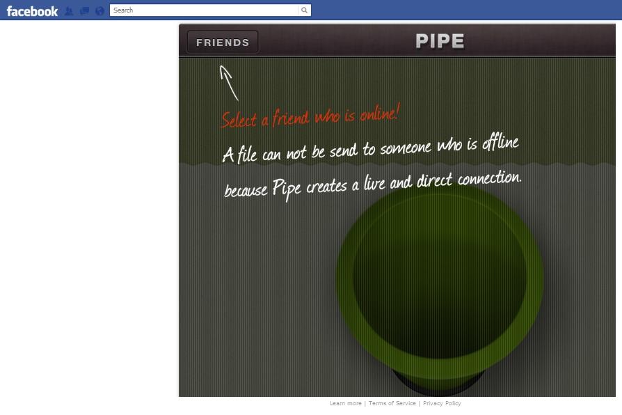 Pipe Facebook app