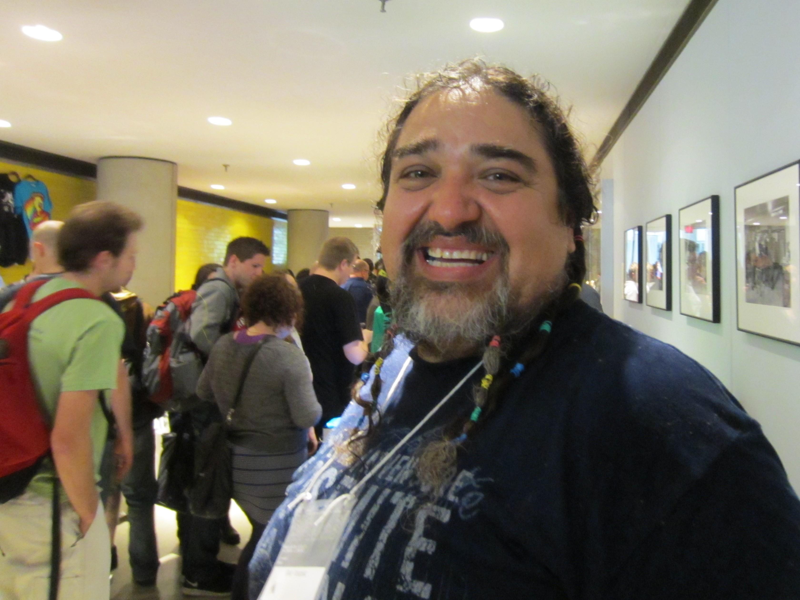 Double Rainbow Guy, aka Paul Vasquez, at ROFLCon 2012
