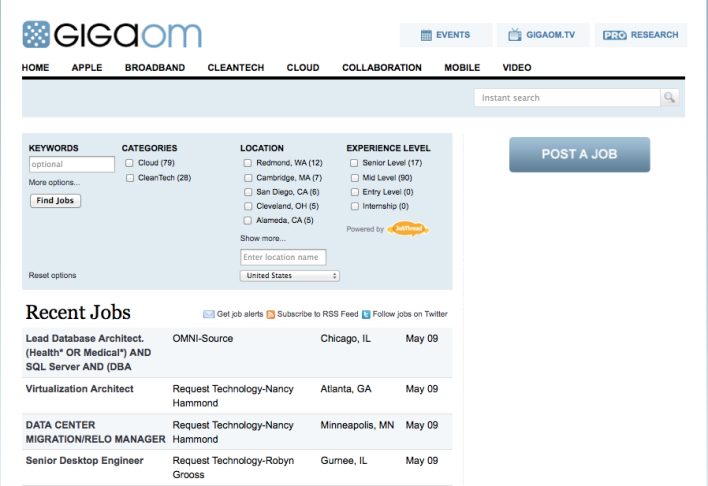 The new GigaOM Jobs site
