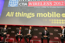 Hesse (third from left) and the CEOs of AT&T, Verizon and T-Mobile at CTIA Wireless