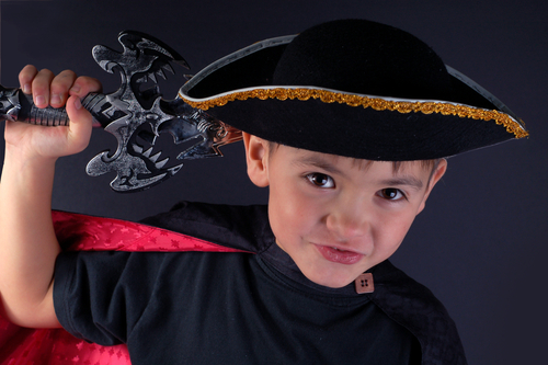 Child pirate with hat and sword