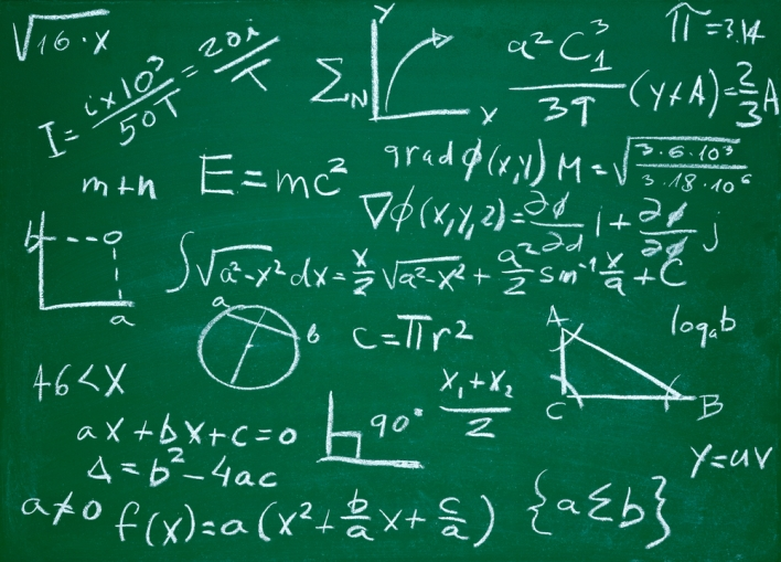 Math blackboard equation