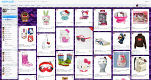 Themed Shopcade example - Hello Kitty