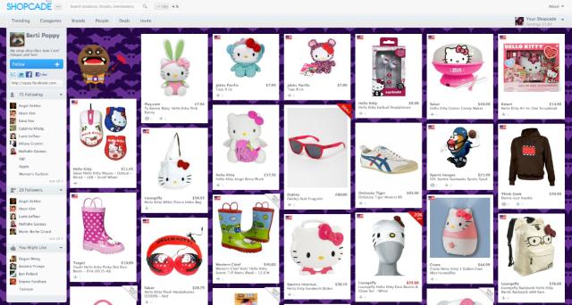 Themed Shopcade example - Hello Kitty