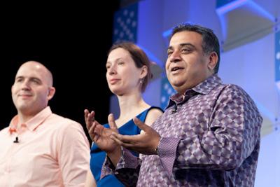(L to R) Derrick Harris, Stacey Higginbotham, and Om Malik of GigaOM (c)2012 Pinar Ozger pinar@pinarozger.com