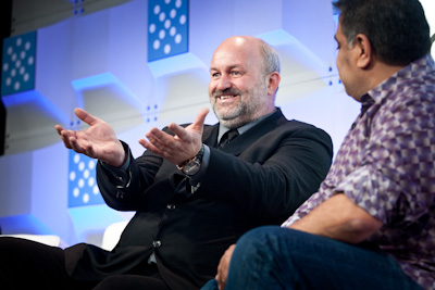 Werner Vogels (left) and Om Malik at Structure 2012 (c)2012 Pinar Ozger pinar@pinarozger.com