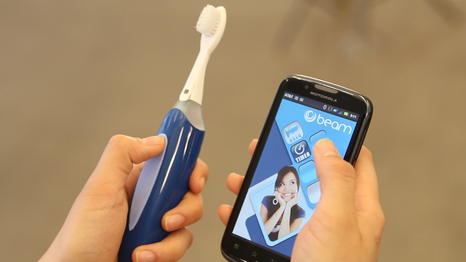 The Beam toothbrush that launched in 2013.