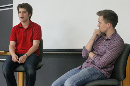 Codecademy founders Zach Sims and Ryan Bubinski, used under Creative Commons license courtesy of HackNY