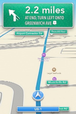 iOS Maps' turn-by-turn directions.