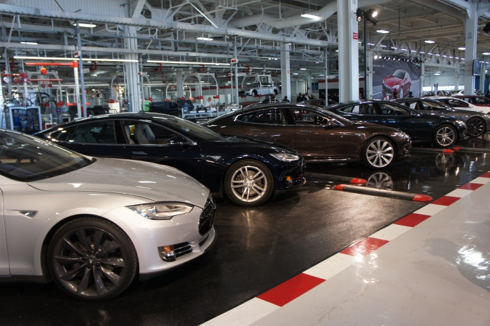Tesla's line of Model S cars