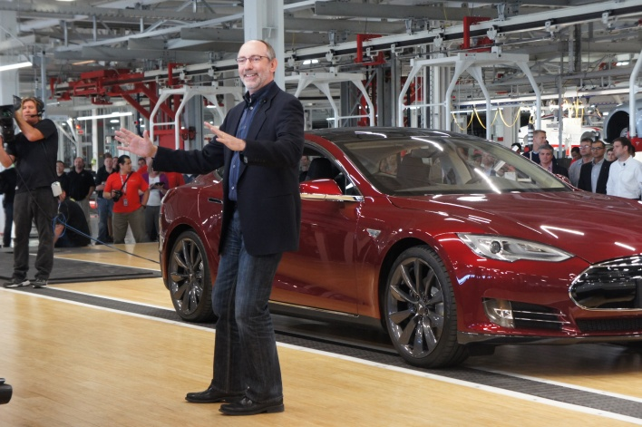 George Blankenship at the launch of the Model S