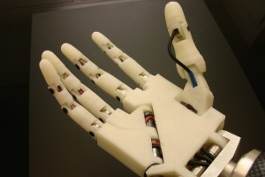 3-D printed robot hand