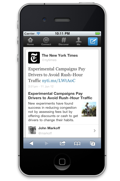Expanded tweet on iPhone