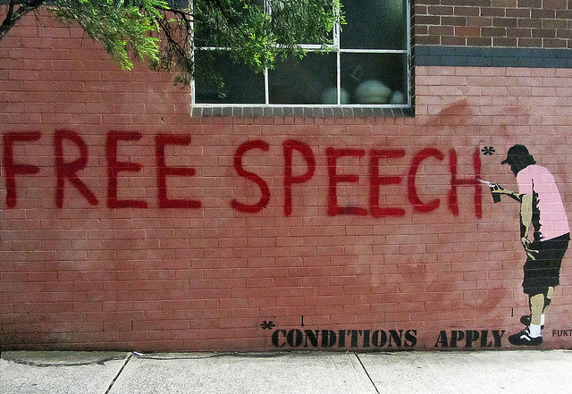 free speech_Newtown grafitti