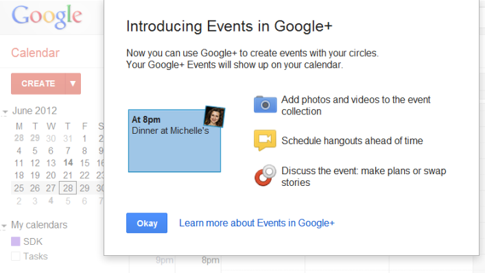 Google Events Opt In