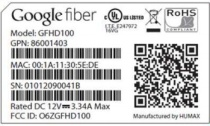 google fiber label