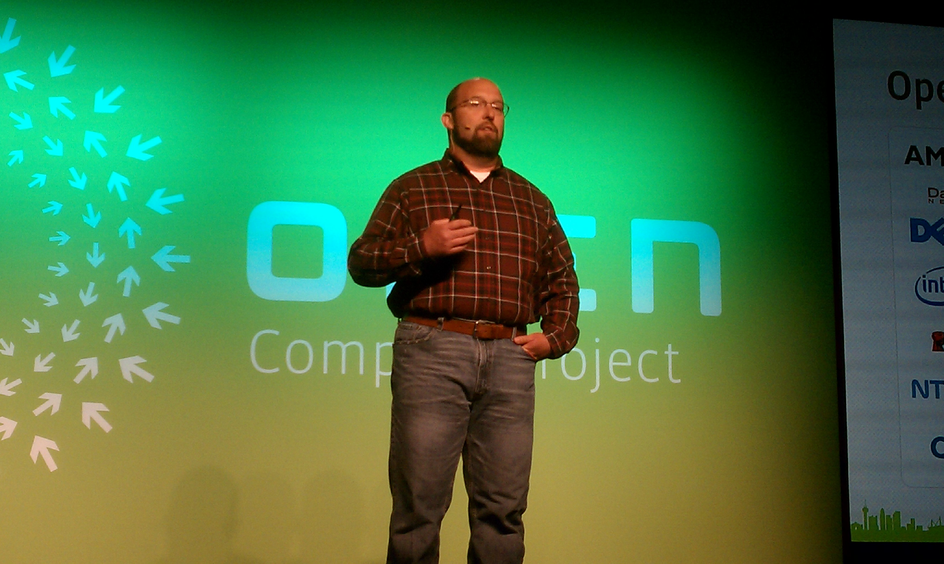 Facebook's Frank Frankovsky at the Open Compute event in May 2012.