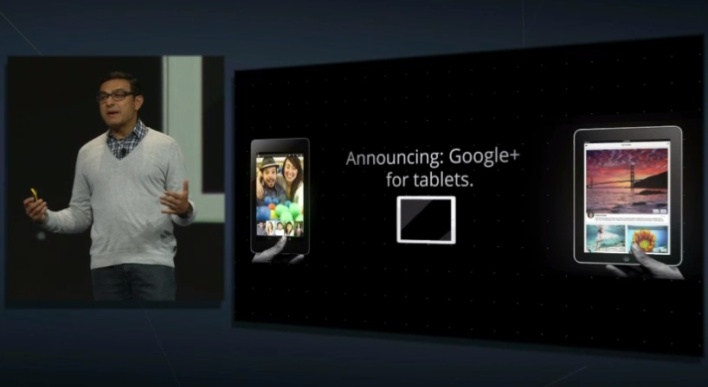 io keynote googleplus tablet app