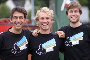 Jimdo co-founders (L-R) Matthias Henze, Fridtjof Detzner and Christian Springub