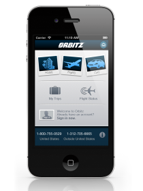 Orbitz iPhone App Home Screen