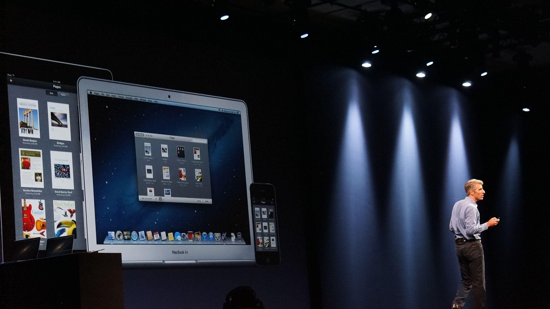 Apple WWDC 2012 Craig Federighi Mountain Lion