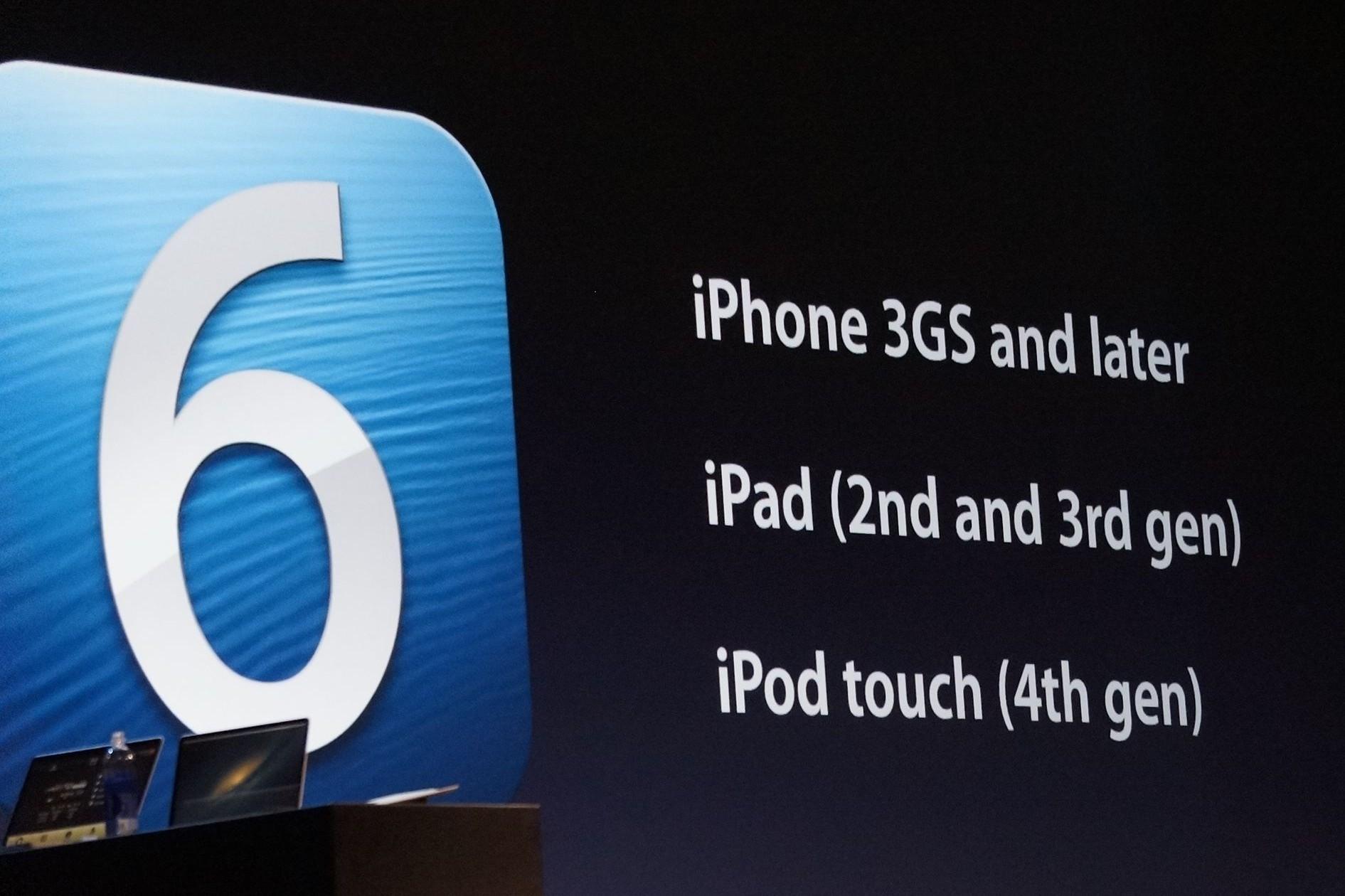 iOS 6 at WWDC