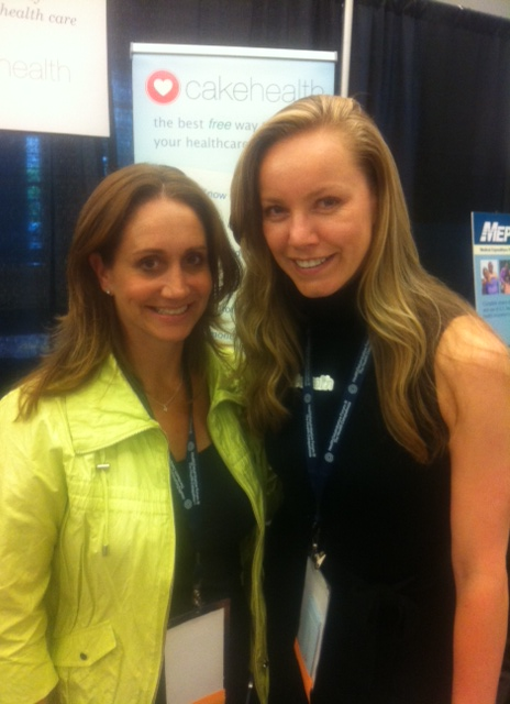 Alyssa Solomon (left) with CakeHealth founder and CEO Rebecca Woodcock (right)