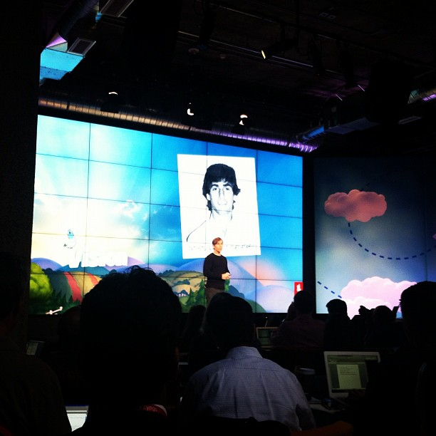 Mark Pincus, CEO of Zynga, announces new updates to Zynga technology and products at Zynga Unleased on June 26.