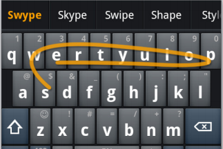 New Swype screenshot feature