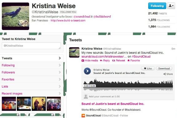 SoundCloud tweet