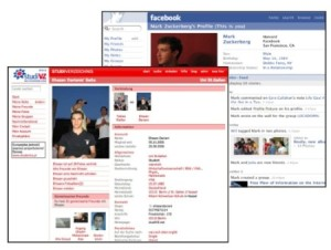 Comparison of early StudiVZ page with Facebook