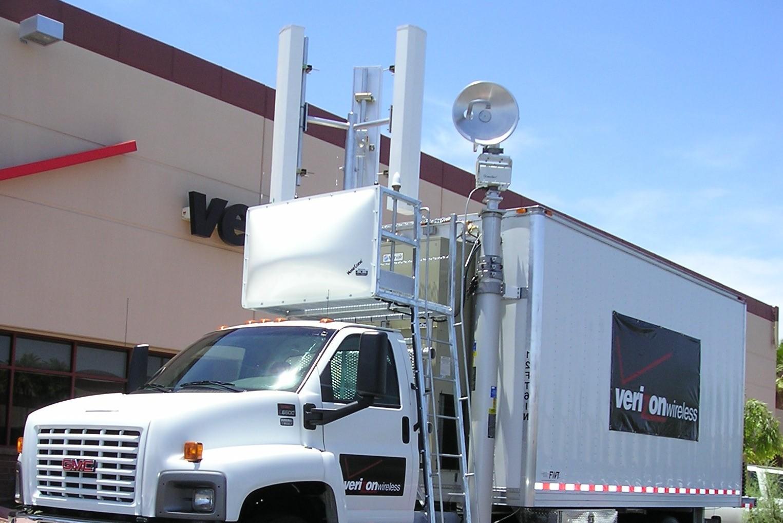 Verizon COLT cell on a light truck