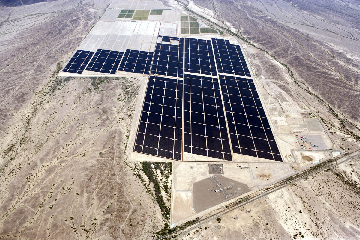 First Solar panels at Agua Caliente