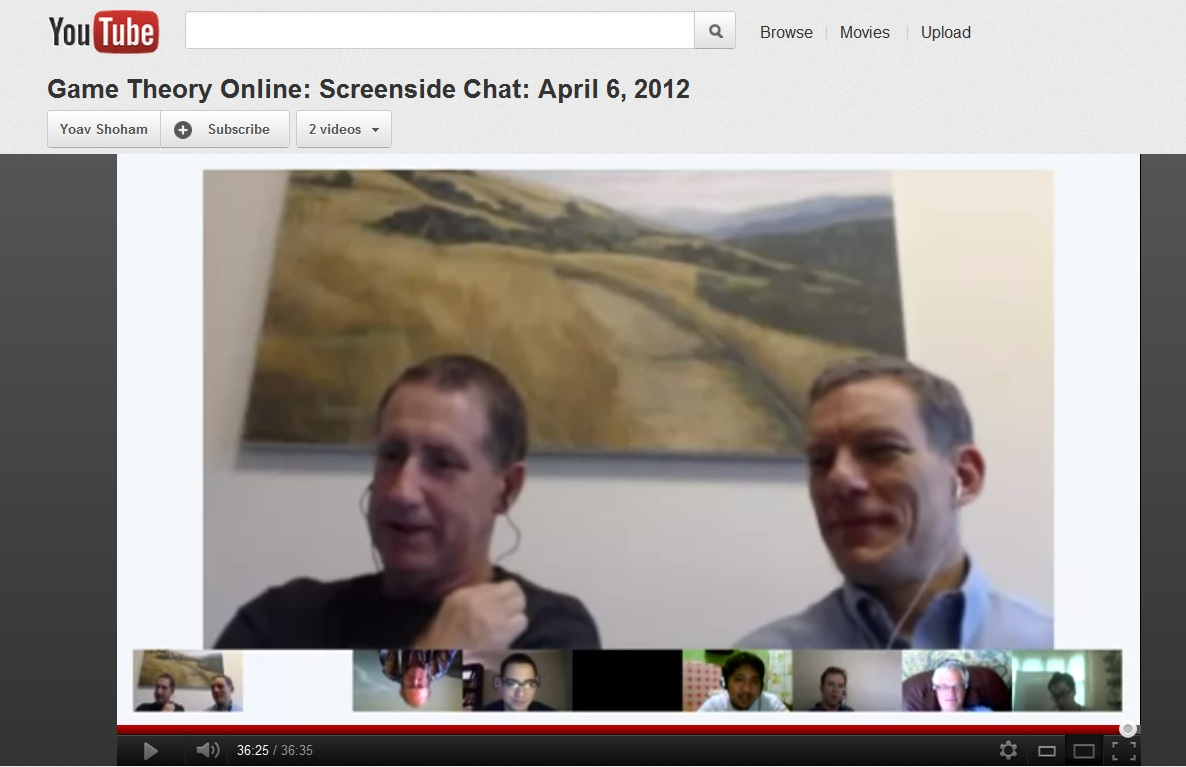 Coursera instructors in a video conference online.