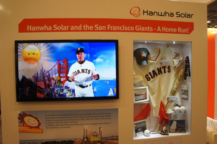 Hanwha Solar hearts the Giants