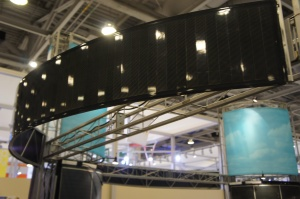 SoloPower's solar panel booth