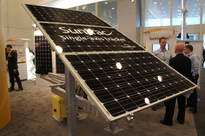 SolarWorld's single axis tracker Suntrac